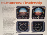 Sperry Avionics in Falcon 10, 20, 50 Original Sales Brochure, Tri-Fold,, 8.5 x 11""