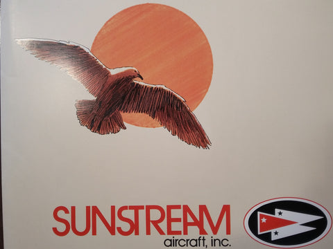 Sunstream Aircraft Original Sales Brochure Folder,, loose items.