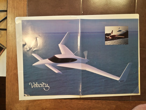 Original Velocity 173 Brochure Folder,  loose items.