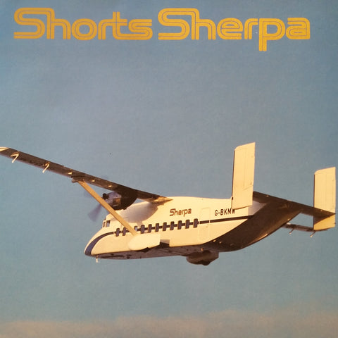"Shorts Sherpa ""Selected By Air Force"" Original Sales Brochure Booklet, 30 page  8.25 x 11.75""."