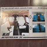 "1983 Jetstream 31 ""Why Settle"" Original Sales Brochure , 4 page, 8.25 x 11.75""."