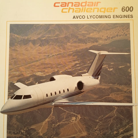 "Canadair Challenger 600 AVCO Lycoming Engines Original Sales Brochure , 4 page, 8.5 x 11""."