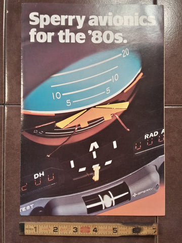 "Sperry ""for the 1980s"" Original Sales Brochure, Quad-Fold, 7.5 x 11""."