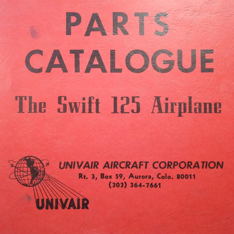 Swift 125 Parts Catalogue.