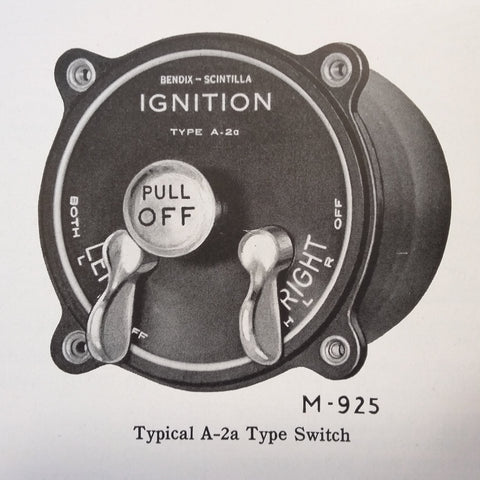 1942 Bendix Scintilla Ignition Switches A-2A Series Service & Parts Instructions.