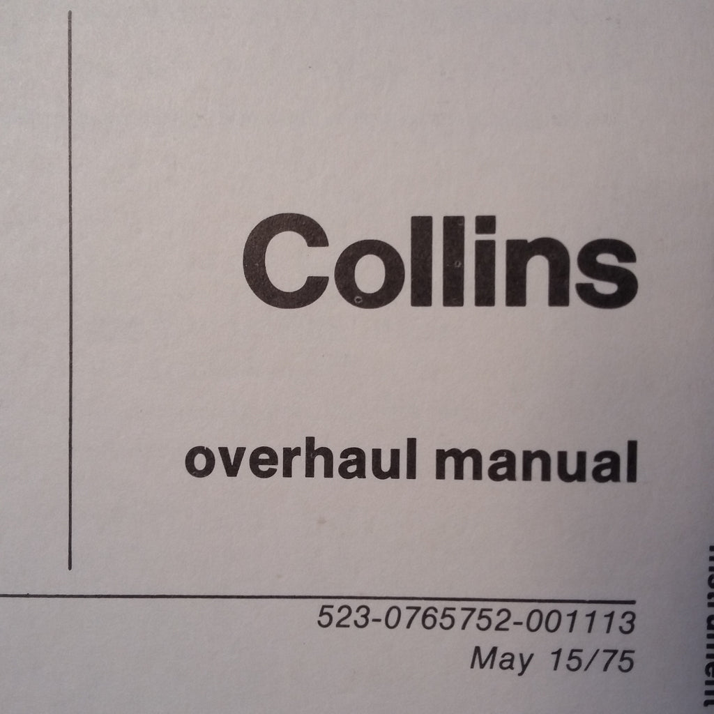 Collins 482-5121-010 aka Weston 9822 17 Overhaul Manual.  Circa 1975.