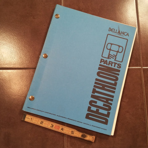 Original Bellanca Decathlon 8KCAB Parts Manual.