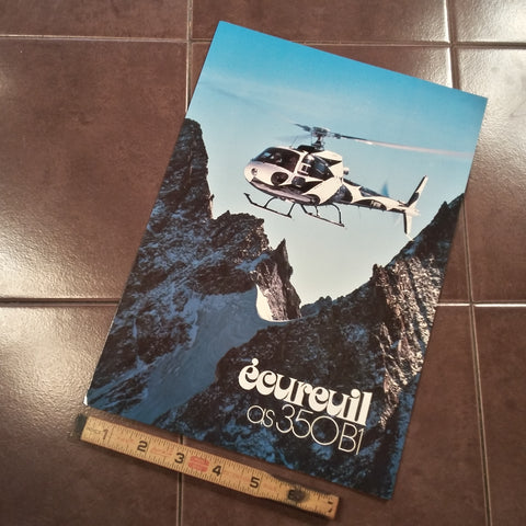 "Original Aerospatiale Ecureuil AS350B1 Sales Brochure, Tri-fold, 8.25 x 11.5""."
