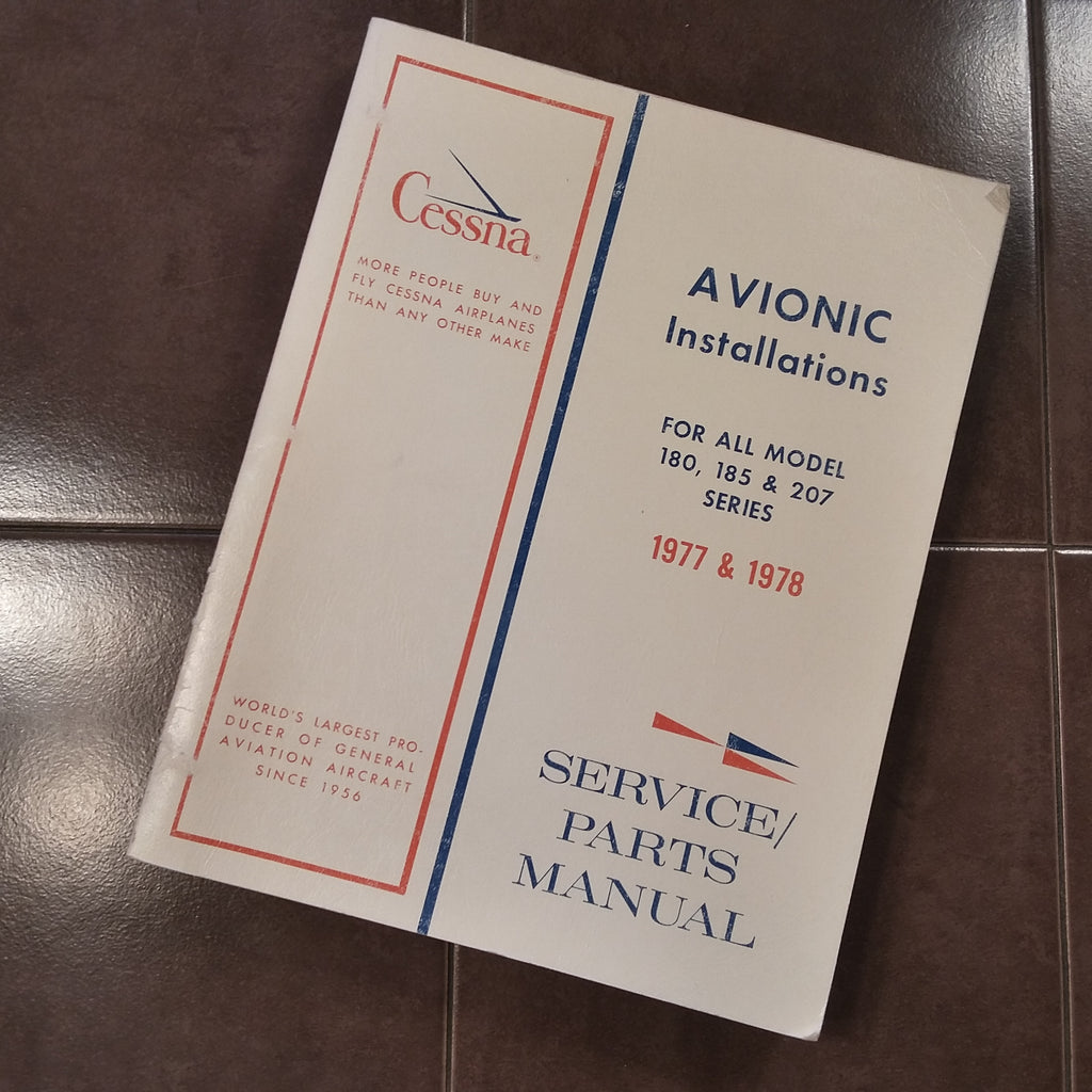Factory Wiring Book 1977-1978 Cessna 180, 185, 207 Service/Parts manual