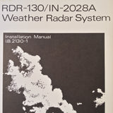 Bendix RDR-130/IN-2028A install manual.