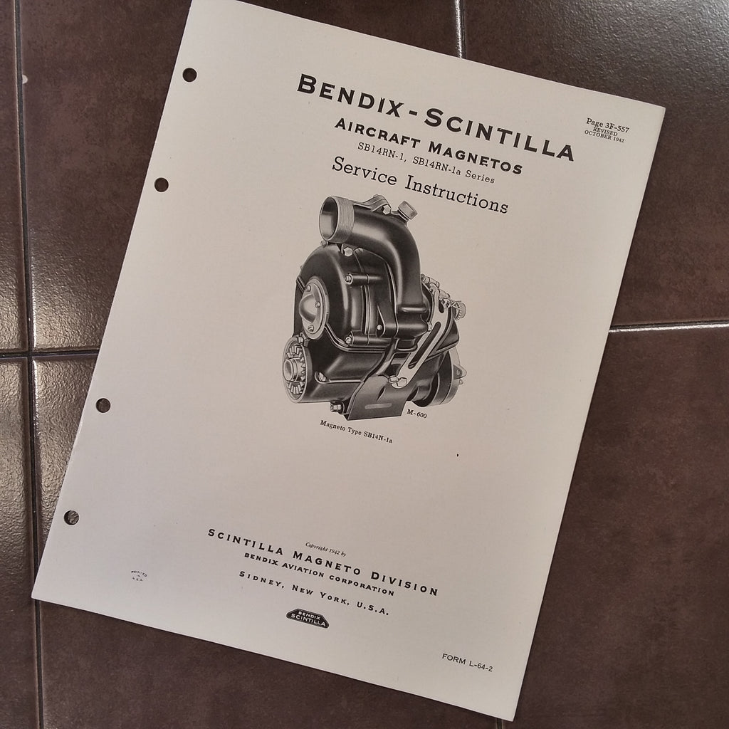 Bendix Scintilla SB14RN-1 and SB14RN-1A Service Manual.