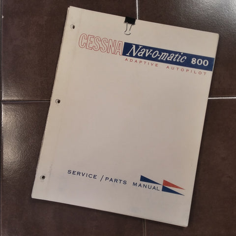 1963 Cessna ARC Navomatic 800 Service Manual.