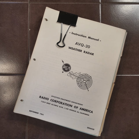 RCA AVQ-20 Radar Service Manual.