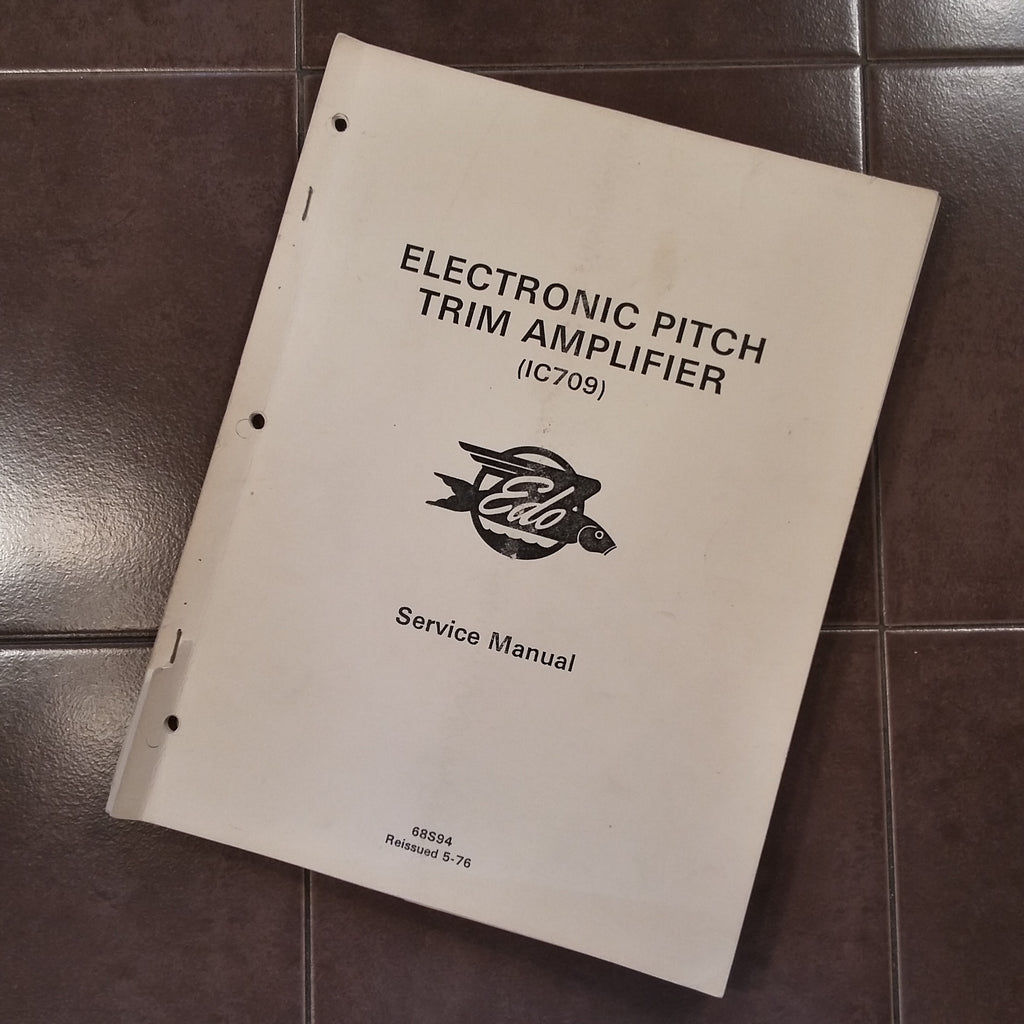 Edo 1C709 Electronic Pitch Trim Amp Service manual, IC-709.