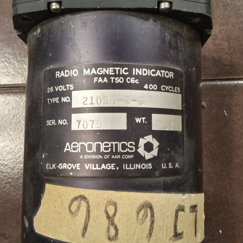 Aeronetics Radio Magnetic Indicator.  2105D-B-6, sn 7075.