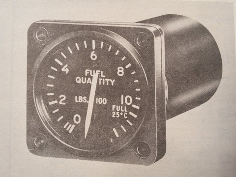 1952 Liquidometer Quantity & Pressure Indicators EA711 & EA721 Parts Manual.