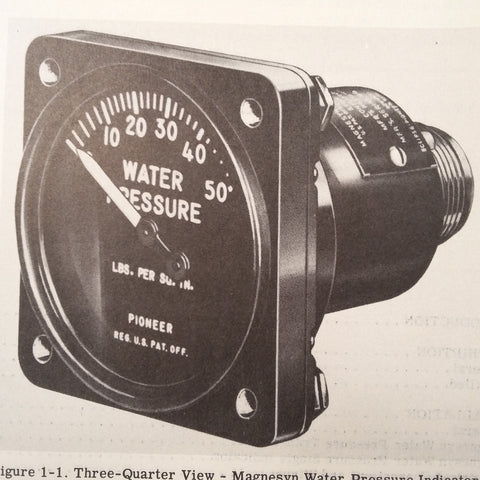 1951 Eclipse Pioneer Water PSI Indicators & Transmitters 24100 & 22002 Series Service Manual.
