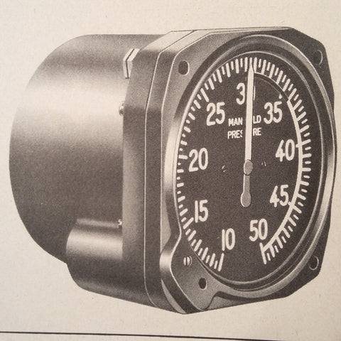 1945 Eclipse Pioneer Manifold Pressure Gauge D-9 Service Overhaul & Parts Manual.