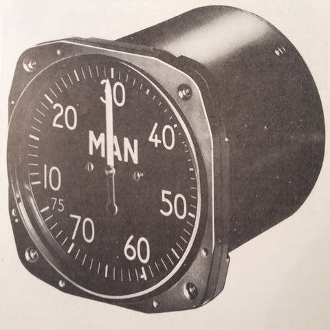 1945 Kollsman Manifold PSI Gauge Mark 9 Install Ops & Service Manual. 788K-02
