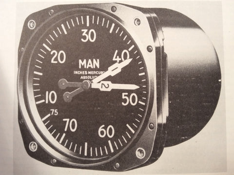 1950 Kollsman Manifold PSI Gauge AN5770-2A-12 Service & Overhaul Manual.