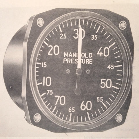 1944 1950 U.S. Gauge Manifold PSI Gauges AN5770-1, AN5770-1A & D-18 Operation & Service Manual.