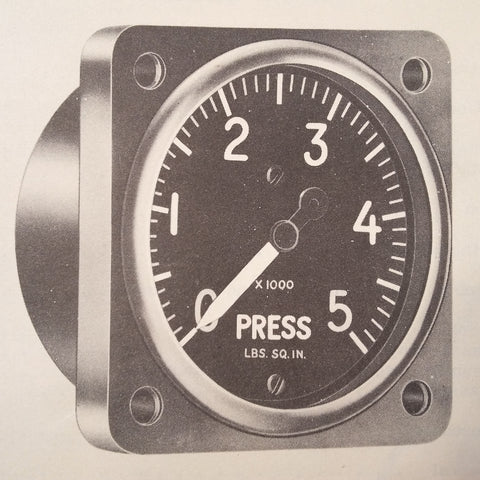 1947 1951 U.S. Gauge Hydraulic PSI Gauge AN5771T7A Overhaul Manual.