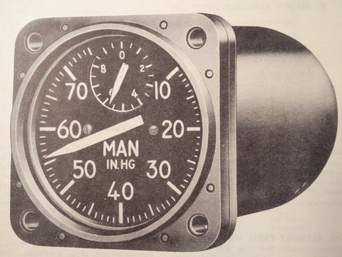 1949 1950 Kollsman Manifold PSI Gauge Type D-14 Parts Manual.