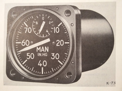 1949 1950 Kollsman Manifold PSI Gauge D-14 Overhaul Manual.