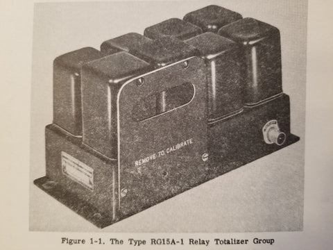 1954 Minneapolis-Honeywell RG15A-1 Relay Totalizer Group Overhaul Manual.