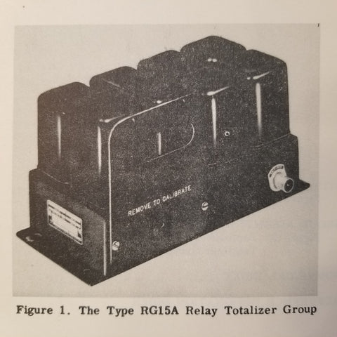 1954 Minneapolis-Honeywell RG15A Relay Totalizer Group Parts Manual.