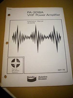 Bendix PA-2018A Power Amplifier Install Manual.