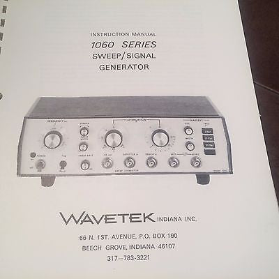 Wavetek 1060 Sweep/Signal Generator Ops & Service Manual.