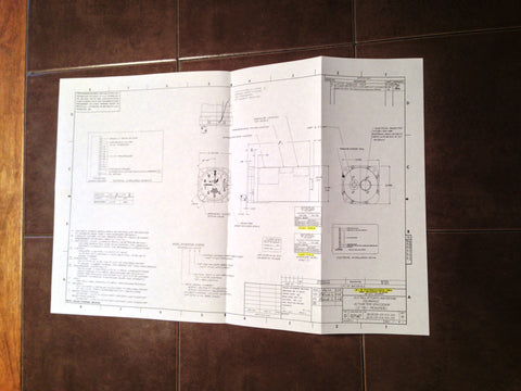 Aero Mechanism 8040B & 8140B Encoder Install Data Sheet Foldout.
