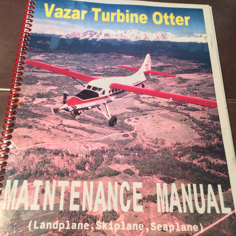 Vazar Turbine Otter DHC-3 Service Manual Supplement Booklet.