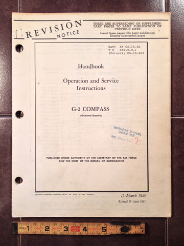 1949 1953 GE Compass G-2 Operation & Service Manual.