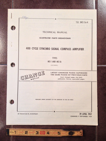 1957 Olympic ME-1 & ME-1A Compass Amplifier Parts Manual.