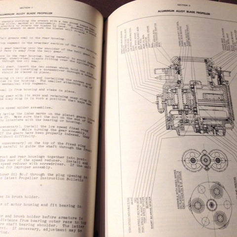 Curtiss-Wright Aluminum Alloy 3 Blade Electric Propeller Install & Service  Manual  Circa 1943