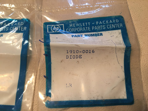 2, HP Hewlett-Packard 1910-0016 Semiconductor Rectifier Diode,  NOS.