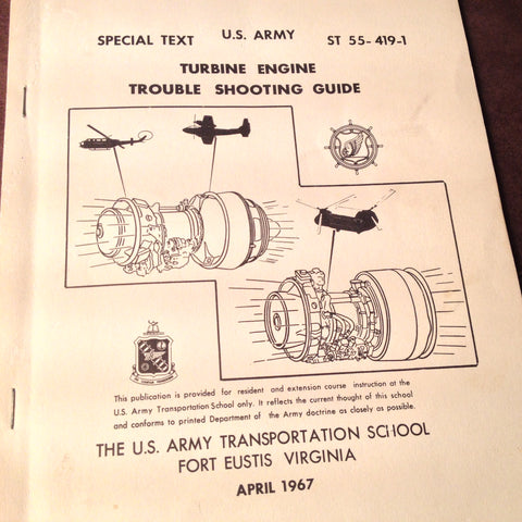 1967 TroubleShooting the Turbine Engine Manual in UH-1, CH-47A & OV-1,