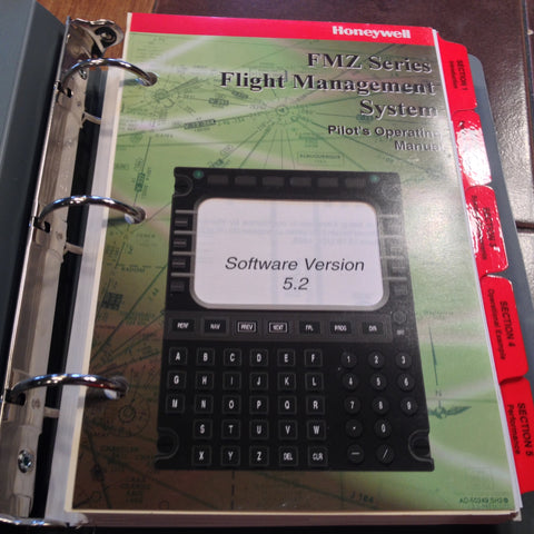 Honeywell FMZ Series Flight Management System Pilot's Operating Manual, v 5.2.