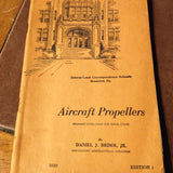 Aviation Propellers covers Curtiss Hamilton-Standard Lycoming   Circa 1943  Revised 1944.