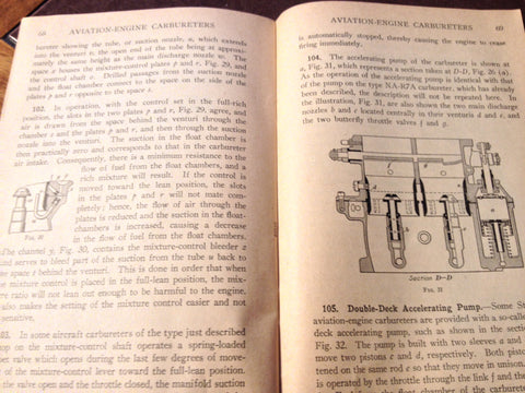 Aviation Engine Carburetors Booklet covers Zenith U S  52, Stromberg,  Holley, Injection  Circa 1938 Revised 1945