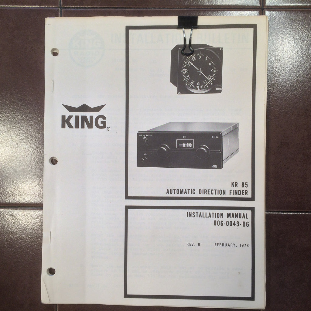 king kr 85 adf installation manual