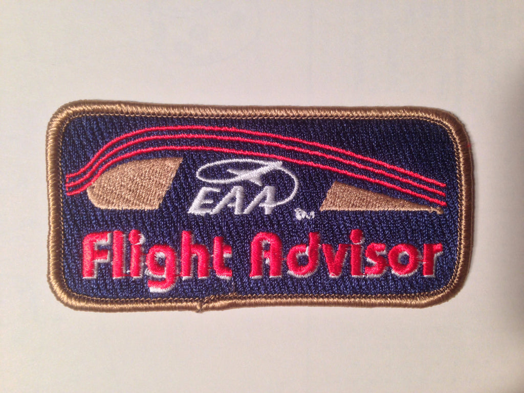 "EAA Flight Advisor Patch,  New Cloth 4""."