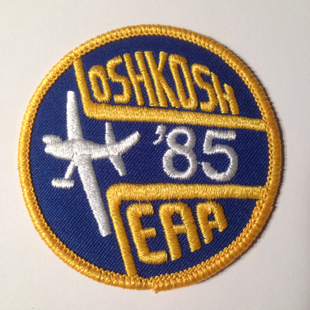 "Original EAA Oshkosh 1985 Patch.  Never used 3"" Cloth."