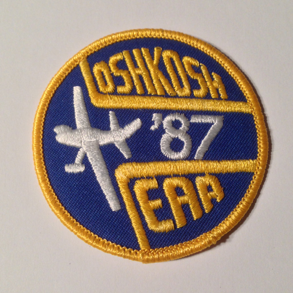 "Original EAA Oshkosh 1987 Patch.  Never used 3"" Cloth."