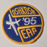 "Original EAA Oshkosh 1995 Patch.  Never used 3"" Cloth."