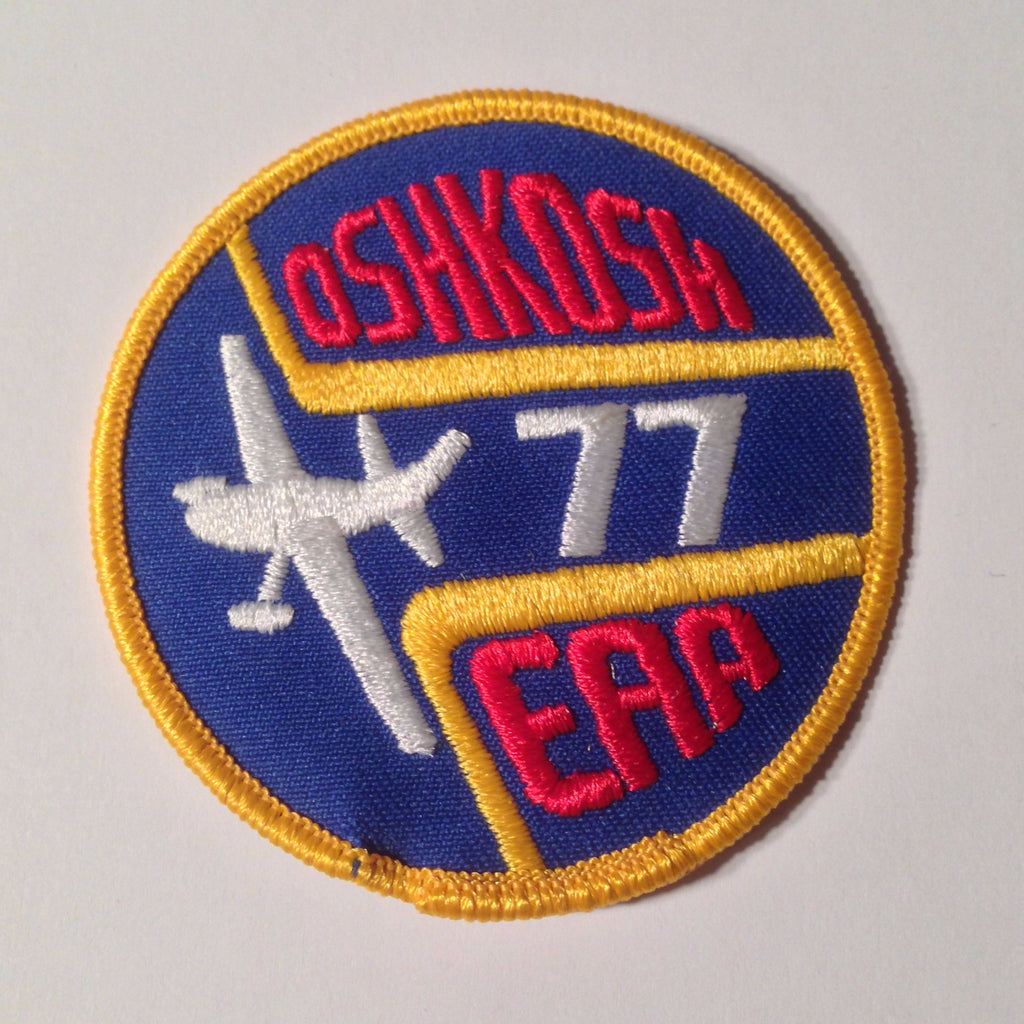 "Original EAA Oshkosh 1977 Patch.  Never used 3"" Cloth."