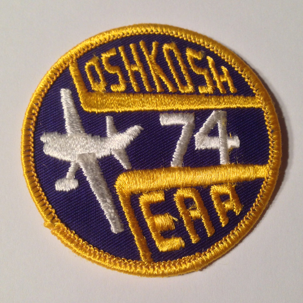 "Original EAA Oshkosh 1974 Patch.  Never used 3"" Cloth."