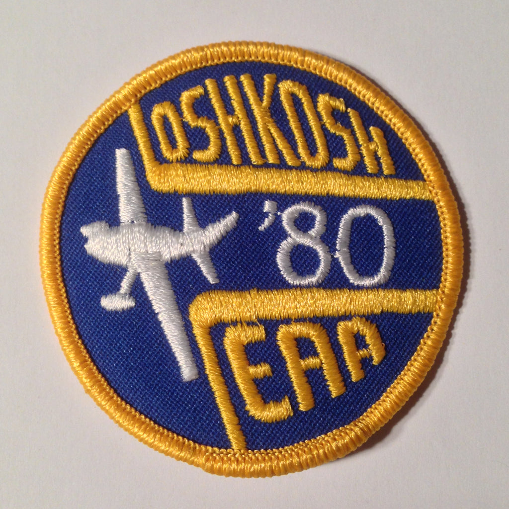 "Original EAA Oshkosh 1980 Patch.  Never used 3"" Cloth."